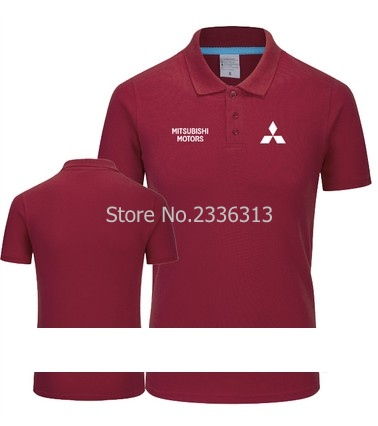 Summer Mitsubishi Polo Shirts Car Standard 4s Shop Work Clothes
