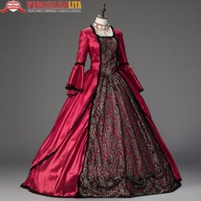 Georgian Marie Antoinette Renaissance Christmas Ball Gown Holiday Dress Theater Clothing