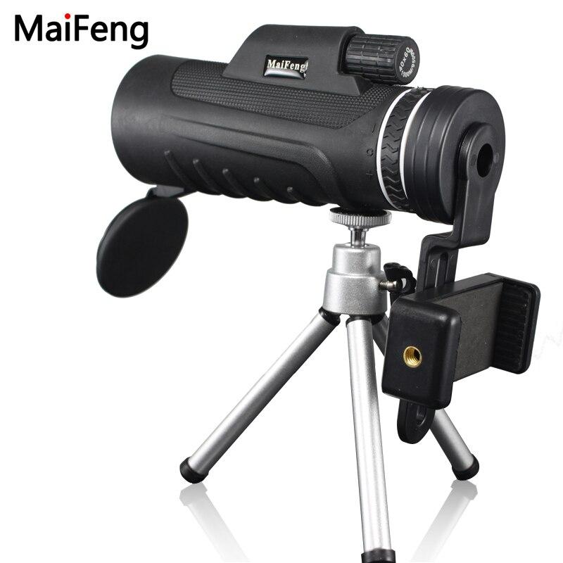 Di alta Qualità Monoculare 40X60 per il Telefono Mobile Della Macchina Fotografica con Universale Della Clip Del Telefono Binocolo Telescopio Lente Ottica Lll notte visione