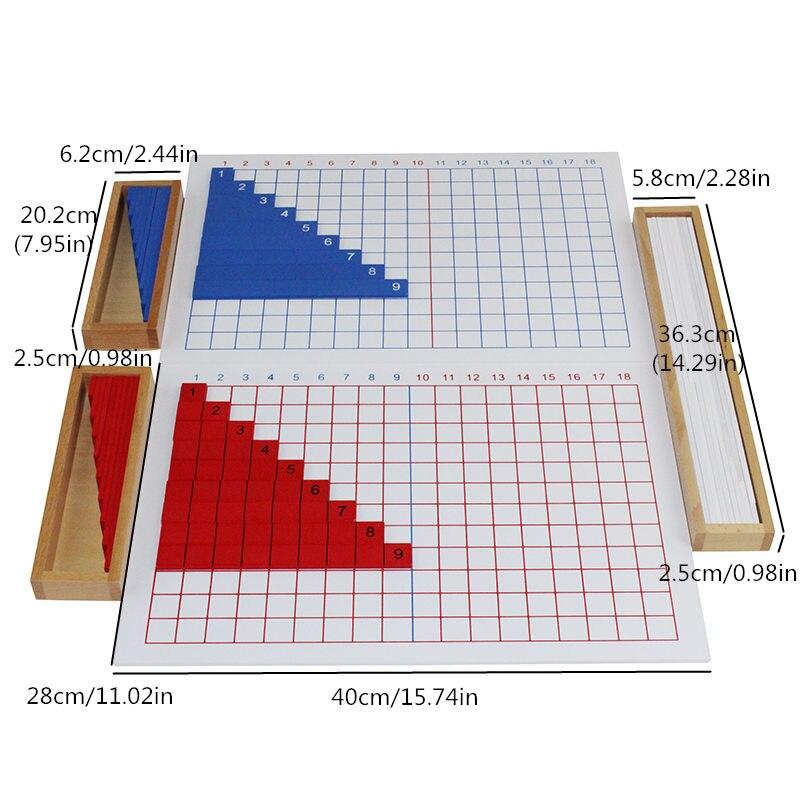 Montessori enfants enfants mathématiques jouets éducation en bois jouets Addition, soustraction, Multiplication et divisions conseils - 5