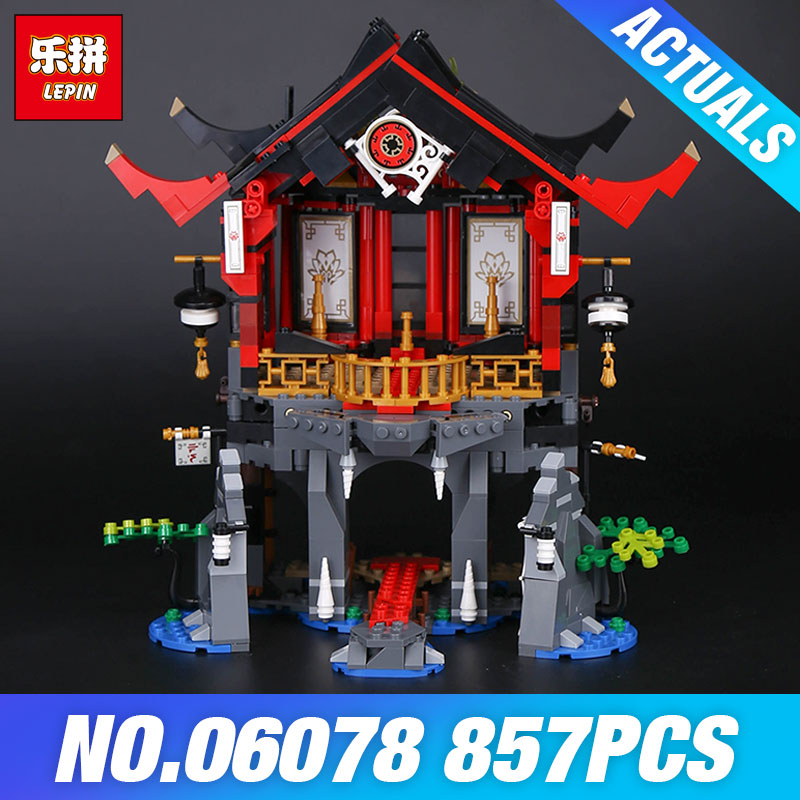 Lepin 06078 Ninja Toys Series The 70643 Temple of Resurrection Set Building Blocks Bricks Toys for Kids Christmas Birthday Gifts марк бойков the resurrection of titanic