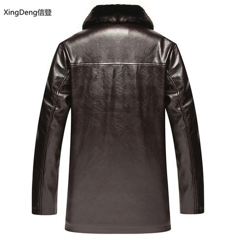 XingDeng Brand Leather Jackets Men Waterproof Zipper Loose Casual dressy tops overcoats Business Winter Male cabi clothes Karachi