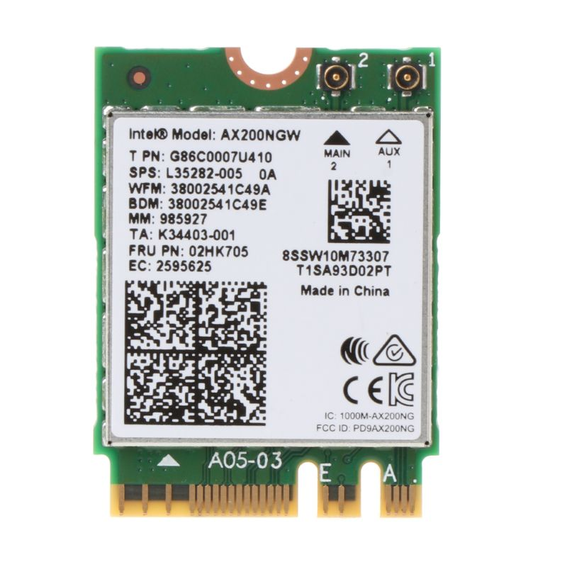 New Intel Wi-Fi 6 AX200 <font><b>802.11ax</b></font> Dual Band MU-MIMO WiFi WLAN Network Card Bluetooth 5.0 Wireless Card image