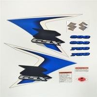 MotorcycleFor Suzuki Sticker GSXR600 750 08 09 GSXR 2008 2009 K8 blue High Quality Decal Full Kit