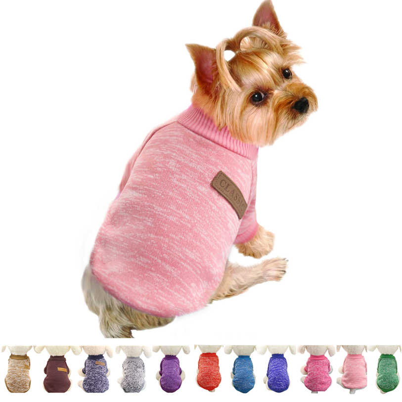 2a4b9861a664 Classic Dog Clothes Warm Puppy Outfit Pet Jacket Coat Winter Dog Clothes  Soft Sweater Clothing For
