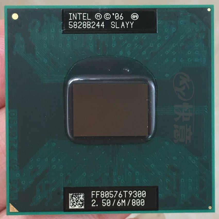 Intel Core 2 Duo T9300 CPU, procesador de ordenador portátil PGA 478 cpu, 100% de trabajo adecuado