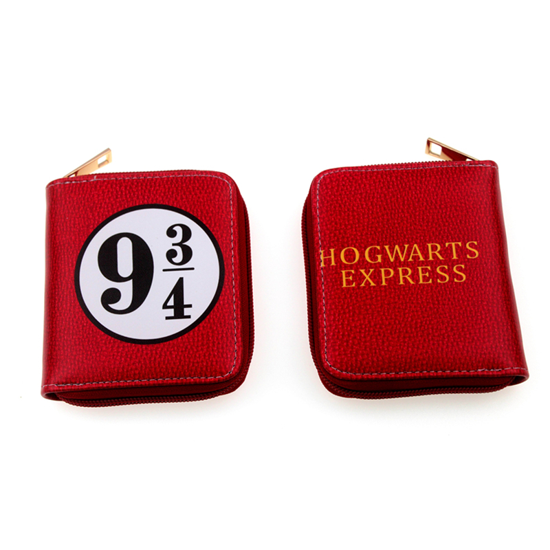 MPMS Harry potter wallets hand take wallets Gryffindor Slytherin Ravenclaw Hufflepuff Money Zipper Coins 6 Cards bolso
