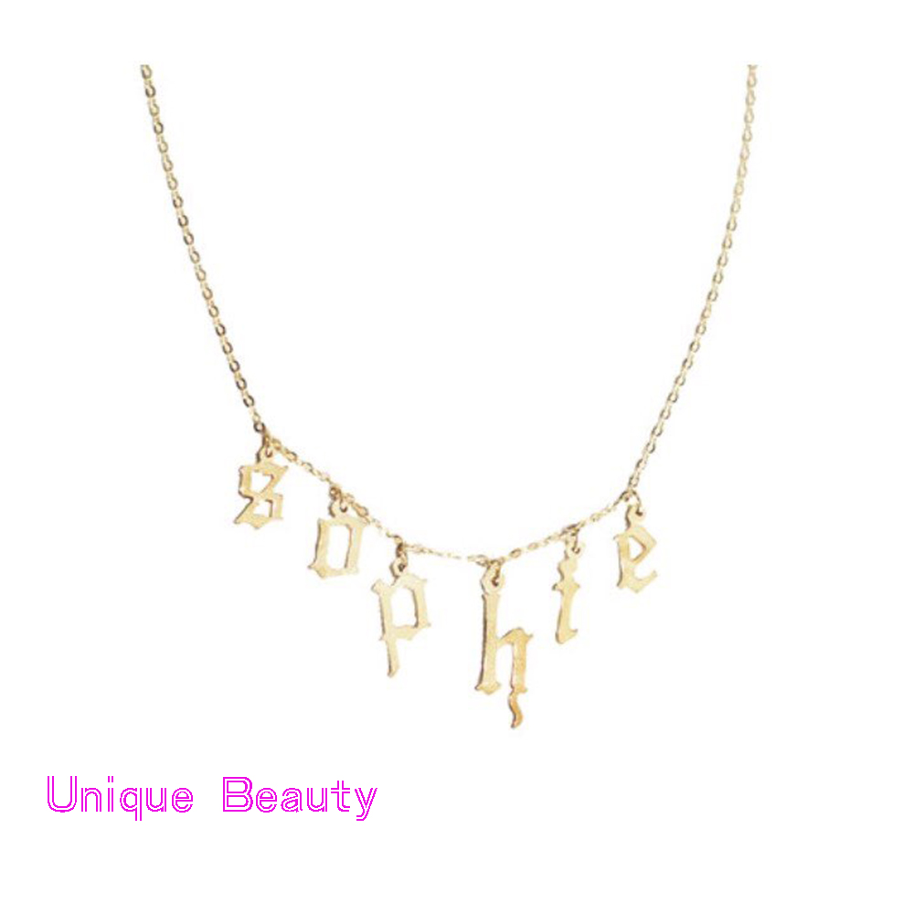 10ca9ddcff872 3 pingente choker colar colar nome personalizado initals moda jóias colar  de nombre rolo cadeia colar letra