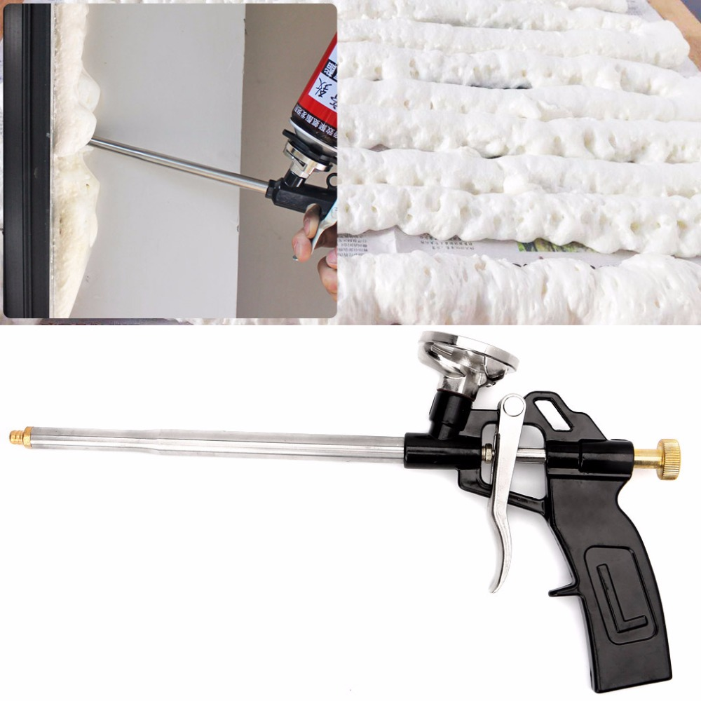 Manual PU Spray Foam Gun Heavy Duty Good Insulation DIY Professional Applicator 312x140mm 5AC800434