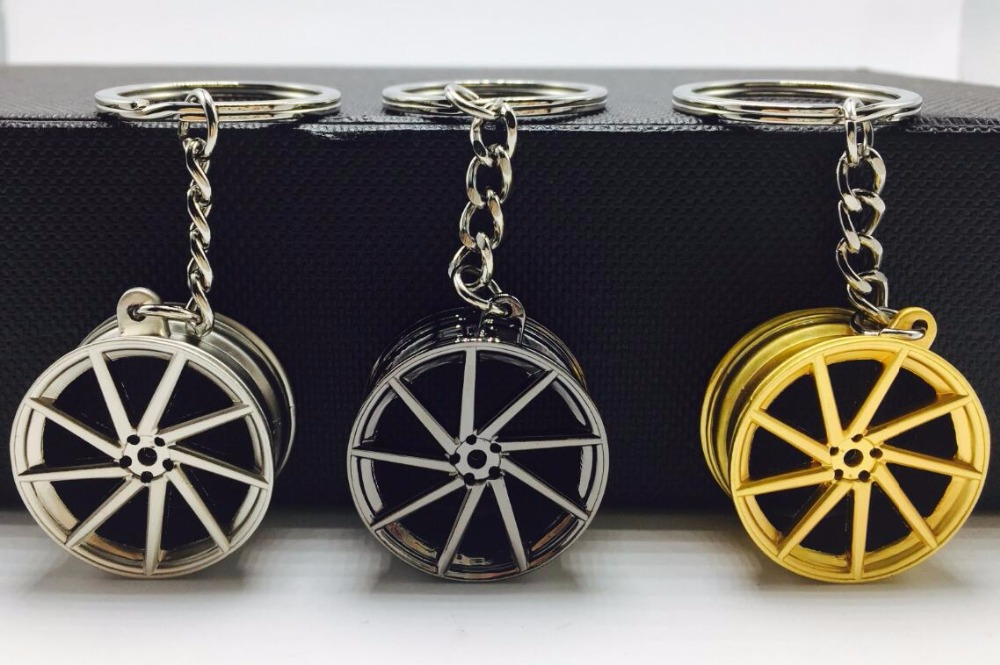 TOYIKIE Keychain Keyring Wheel-Rim Pendent Auto New-Alloy Car Cvt-Design Mini