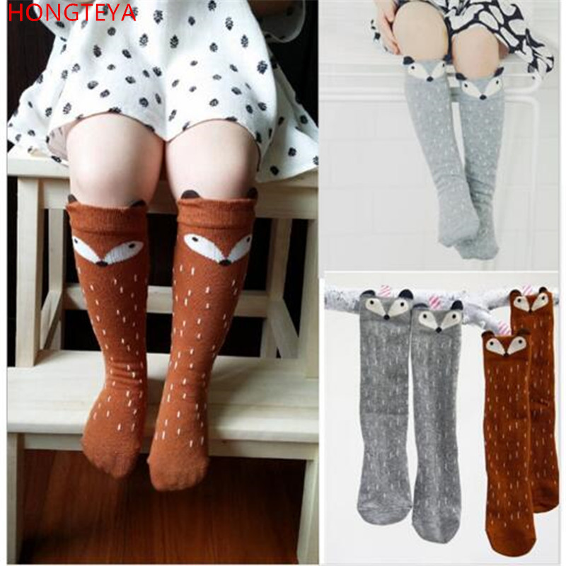 Hongteya Fashion Meias New Cute Animal White And Gray Cat Baby Cotton Girls Socks Infantil Warm Boys Socks 0-6 Years Children