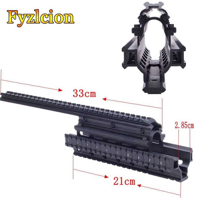 AK47 74 AKs /MNT-T228 Hunting Shooting Tactical Quad Rail See-through Scope Mount Quad Rails Handguard With Rail Covers