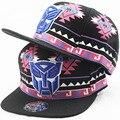 So Cool! alta Qualidade Chapéu Do Bebê Robô Dos Desenhos Animados Bordado Hip Hop Boné De Beisebol Preto Para Meninos Xadrez Colorido Snapback Tampas