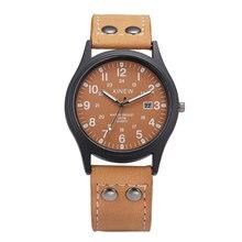 NOUVELLE Marque XINEW Fashion Design Armée Montres Hommes Bracelet En Cuir avec Calendrier Casual Lumineux Quartz Montre 2016 Reloj Hombre Marca