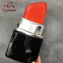 Mode et amusant nouveau design en cuir pu rouge à lèvres modélisation dames épaule sac à main chaîne casual sac à main bandoulière messenger sac