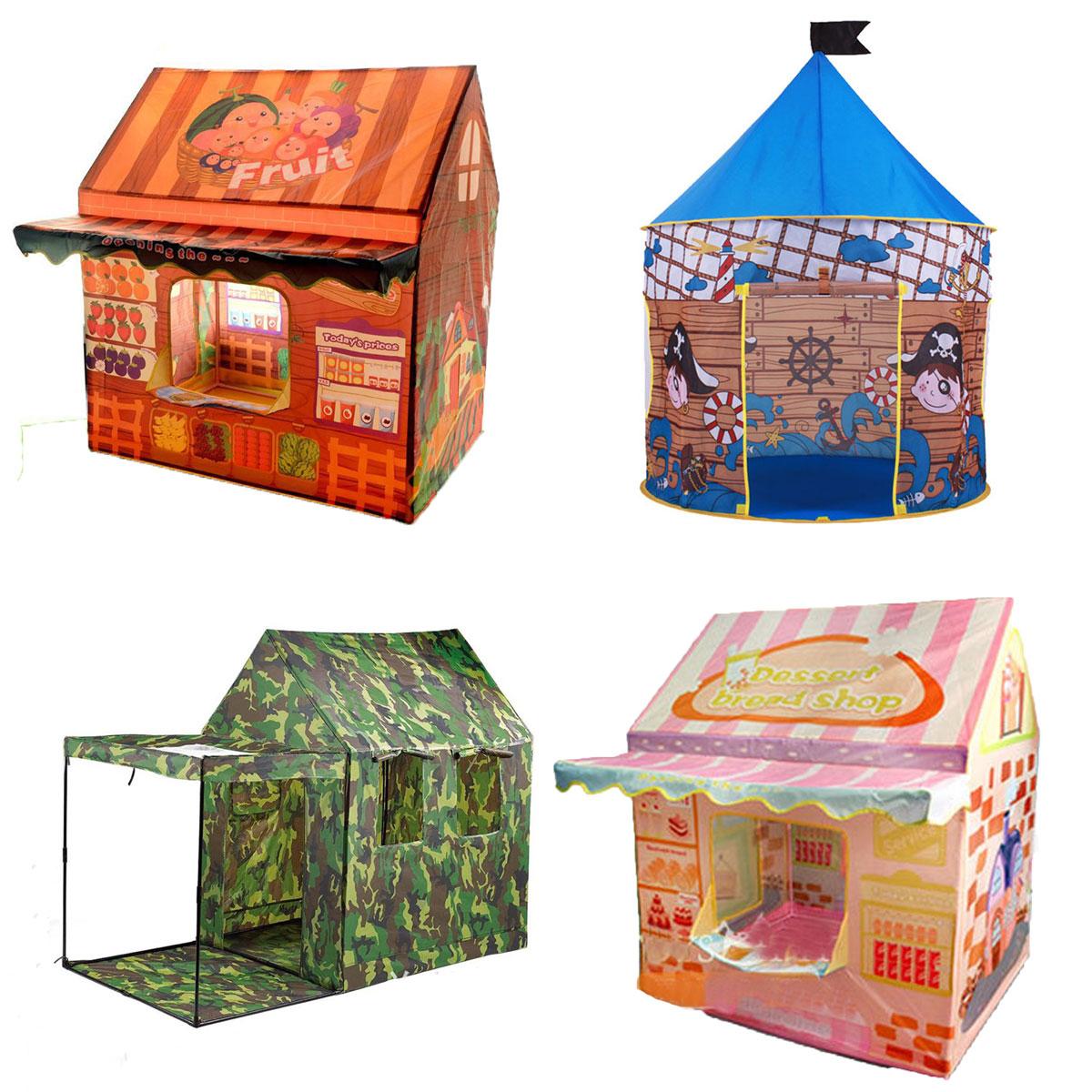 Замок принцессы играть палатки для девочек и мальчиков Игрушки best Рождественский подарок на день рождения складной играть театр Портативн... ...