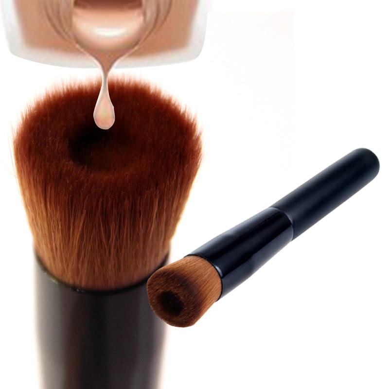 Flat Concave Angled Liquid Foundation Brush Multifunction Pit Brush Powder Base Makeup Brushes Premium Beauty Make Up Brush Tool