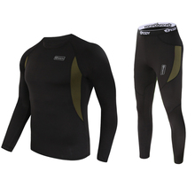 new men thermal underwear sets compression fleece sweat quic