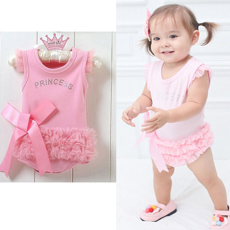 208ced04b306 summer romper 2016 wholesale cute baby kids girls princess pink lace ...