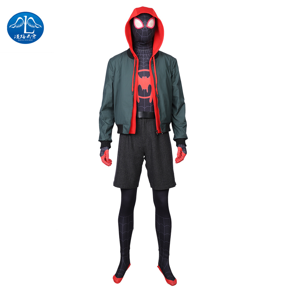 MANLUYUNXIAO Spider Man: Into The Spider-Verse  Halloween Cosplay  Costume for Kids   kigurumi mask