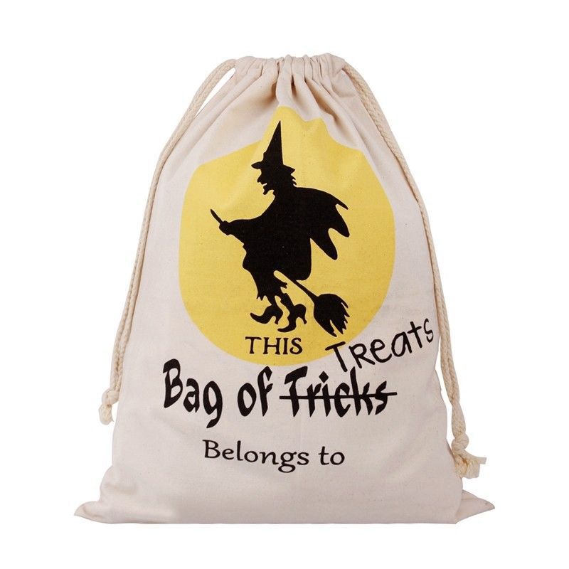 Candy Shopping Bags For Jewelry Box and Package Halloween Pumpkin Canvas Bags Beam Port Drawstring Sack Drop shipping