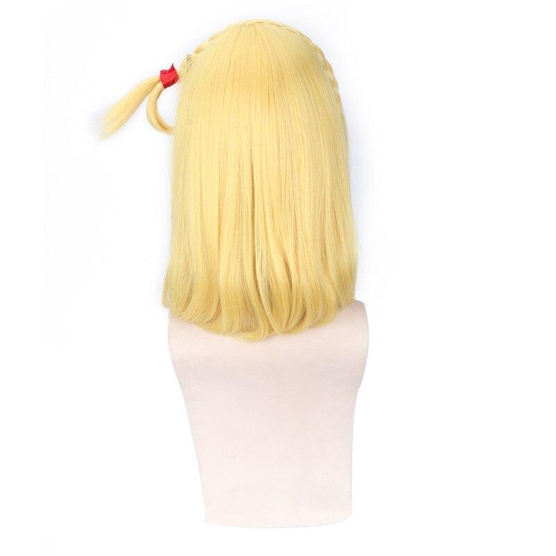 LoveLive!Sunshine!! Mari Ohara Medium Long Curly Cosplay Wigs Women Female Fake Hair Sale 45cm Synthetic Hair Gold Blond Anime
