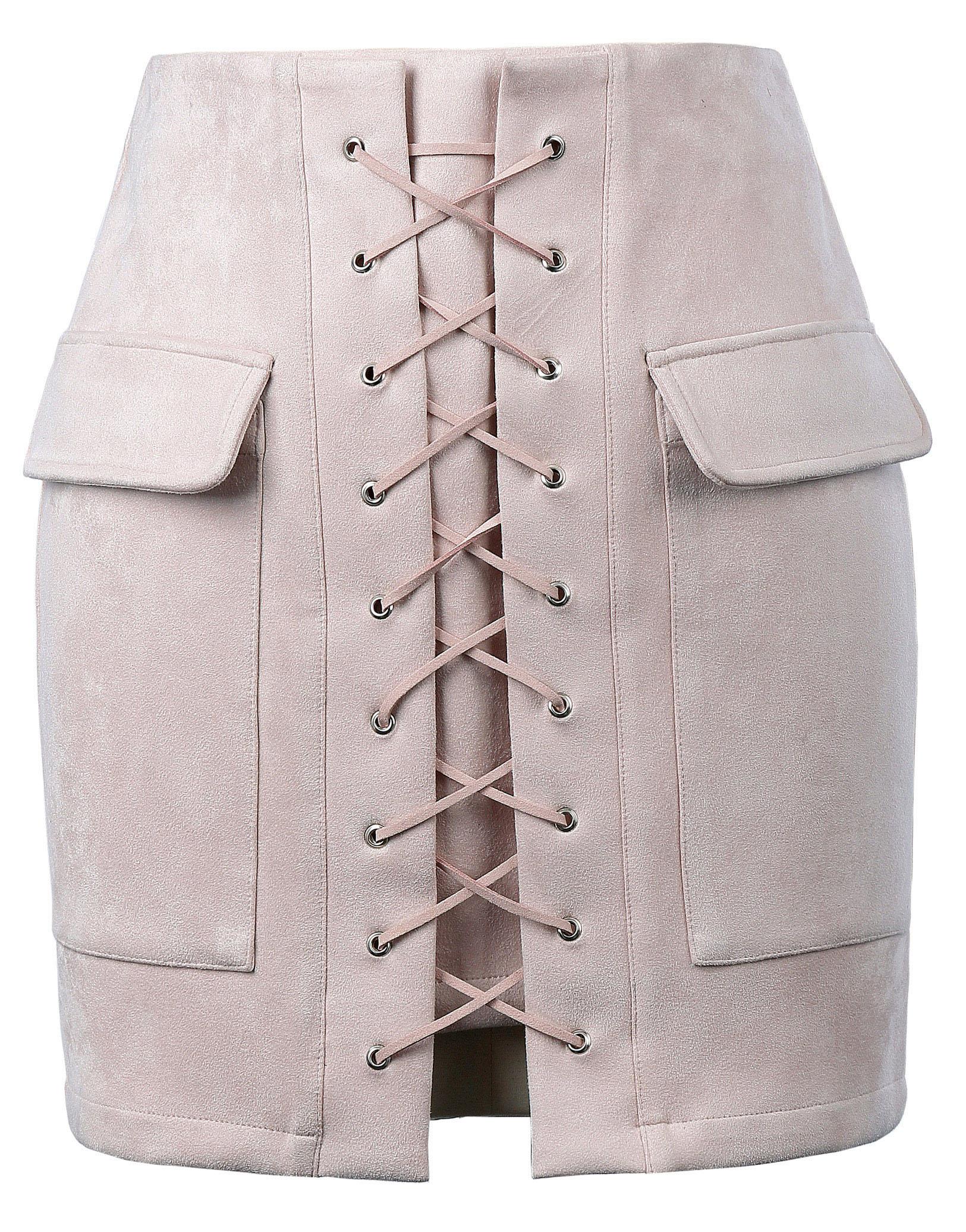 90%Polyester+10%Spandex summer skirt Sexy Women Stylish & Slim Fit High Waist Hips-Wrapped Mini Skirt