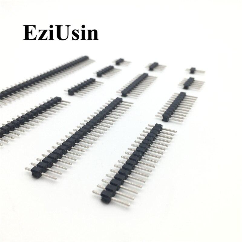 2.54mm Single Row Male 2~40P Breakaway PCB Board Pin Header Connector Strip Pinheader 2/3/4/5/6/8/10/12/15/20/40Pin For Arduino