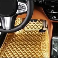 Левосторонний/правосторонний коврик для Volkswagen Beetle EOS Golf Jetta Passat sharan кожаный Противоскользящий автомобильный Стайлинг ковровое покрытие