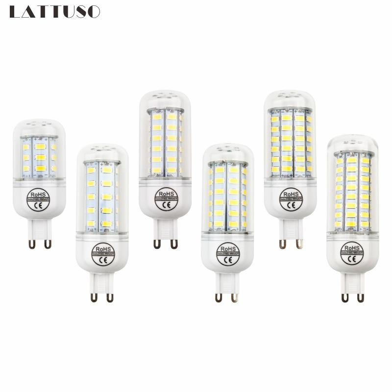 LATTUSO G9 SMD 5730 Lamparas Led Light Bulb 220v 24 36 48 56 69 72LEDs Ampoule Led Energy Saving Lamp Replace Edison Bulb Lampen