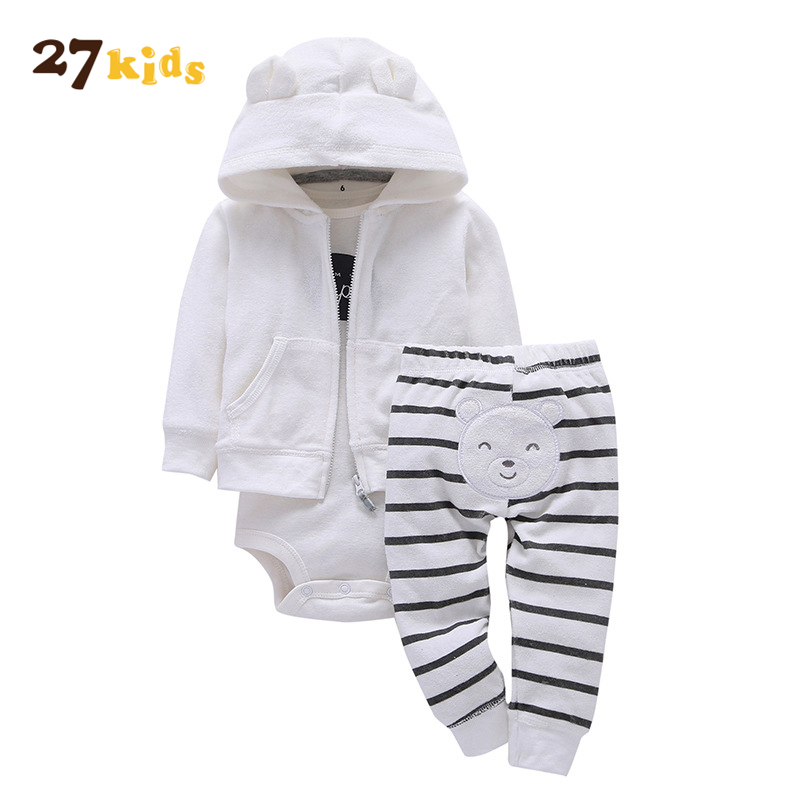 27Kids 3pcs baby boy clothes set roupa infantil menino coat+bodysuit+pant spring Autumn boy girls clothes infant bebes clothing kids clothes baby cartoon infantil 2 6y boy pajamas set girls set baby toddler sleep wear clothing baby boy clothes for chidlren