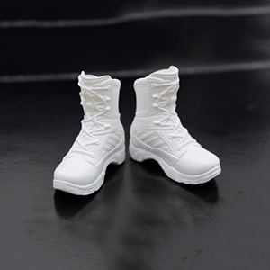 1/6 Policewomen's Combat Short Boots Model for 12'' Figures Bodies Black White and GreenAction & Toy Figures