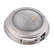 12 v led recessed para baixo luz fria/quente lâmpada do teto branco sob a luz interior da cabine para a caravana do iate rv etc lente impermeável