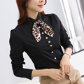 New 2016 Women's Shirt Long Sleeve Black Blouse Plus Size Tops Ladies Office Blouse Camisa Mujer OL Work Wear Blouses And Shirts