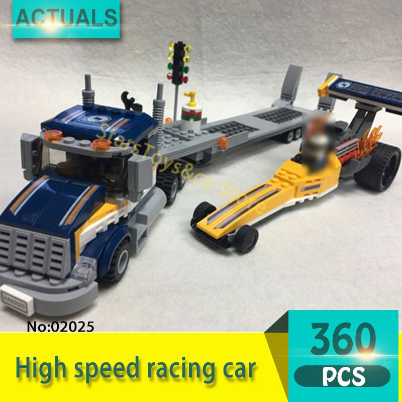 Lepin 02025 360Pcs City series High speed racing car Model Building Blocks Set  Bricks Toys For Children Gift 60151 lepin 02025 city the high speed racer transporter 60151 building blocks policeman toys for children compatible with lego