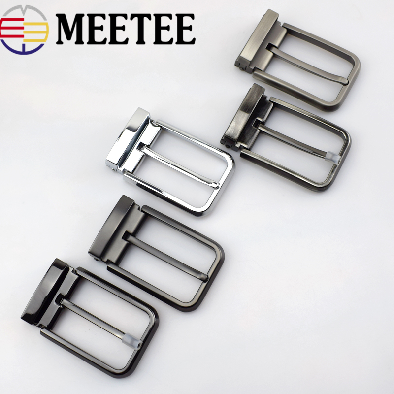 Meetee High quality 35mm Men's Metal Belt Buckle Pin Clip Cowboy Jeans Belt Head for 33-34mm Belt DIY LeatherCraft Supply AP2763