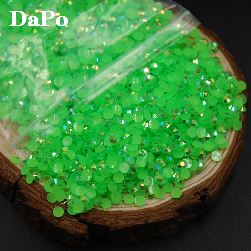 2017 Shiny Fashion Light Green Jelly AB Color Resin Rhinestones Nail Art  Rhinestones For Crafts DIY Decoration-in Rhinestones from Home   Garden on  ... 060730633ab7