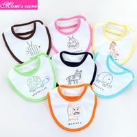 7Pcs baby bib printed anti overflow milk newborn week saliva towel baby waterproof cute cartoon baby burp cloth 0 24