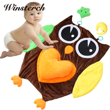 96cm*87cm Baby Tummy Time Soft Play Mat Rug Plush Baby Crawling Activity Mat Playing Cushion Pillow Pad Teether Gift WW321