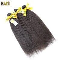 BAISI Kinky Droite Péruvienne Vierge Cheveux 12-24 pouce # 1B Couleur 100% Non Transformés de Cheveux Humains Bundles Offre 3 Pcs/Lot, livraison Gratuite