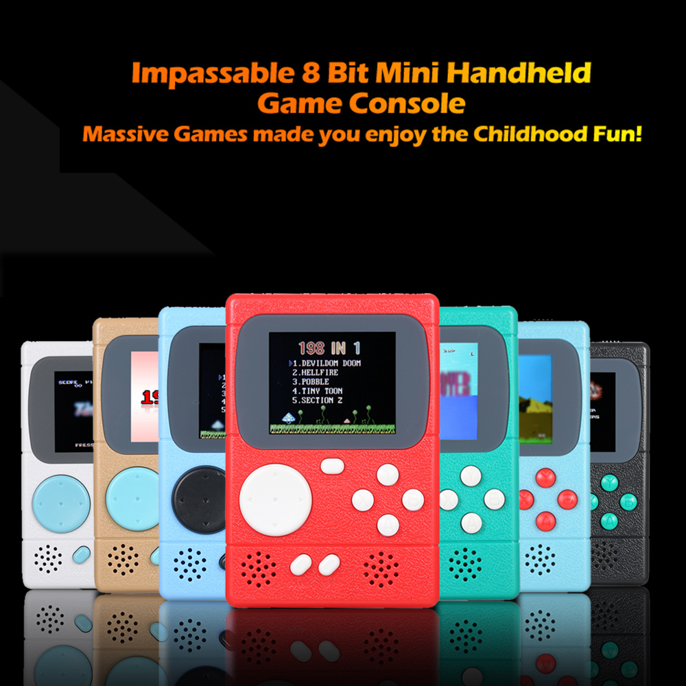 Retro Portable children mini nostalgic handheld video game console 8 Bit Built-in 198 Classic Games Handheld Game Players Player