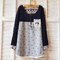 Inverno Quente Velet Vestido Camisa de Maternidade Roupas Gravidez Desgaste Blusa Camisa Azul Roupas Plus Size Tops T Para Mulheres Grávidas