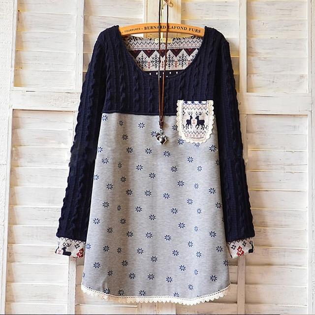 Winter Warm Velet Maternity Shirt Dress Clothes Pregnancy Wear Blouse Shirt Clothing Blue Plus Size Tops Tees For Pregnant Women