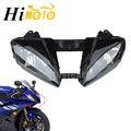 Мотоцикл Гоночный передний свет Фара налобный фонарь сборка Корпус Комплект для Yamaha YZFR6 YZF R6 YZF-R6 2006 2007 06 07