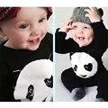 2016 KidsTales bebê panda roupas de bebê menino roupas de bebê menina manga longa Romper do bebê escalada roupas de bebe bebê recém-nascido definir