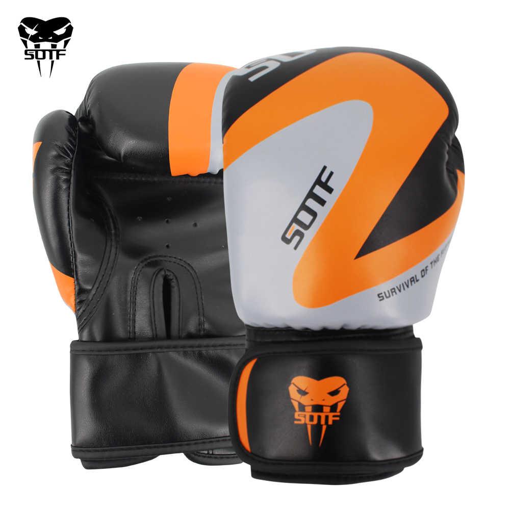 Sotf MMA Orang Dewasa Ular Berbisa Pria Wanita Geometris Sarung Tinju Sarung Tangan Kotak Tiger Muay Thai Sanda Bantalan Melawan Sarung Tangan Petinju MMA