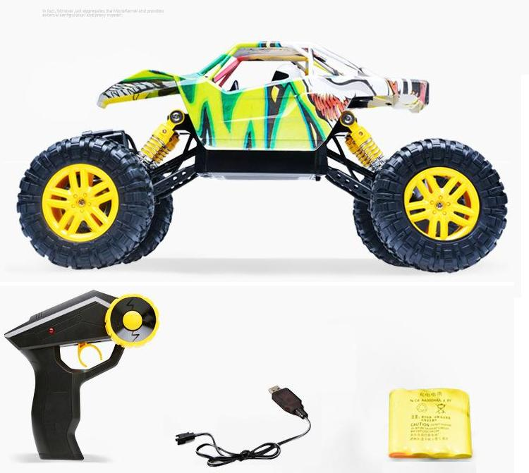 2.4G 4WD 1/18 remove controlled Rock Crawler Electric R/C Rally Car with Graffiti car shell Big foot truck Off-Road Vehicle Toys фигурки disney traditions фигурка микки и минни маус с колокольчиками с рождеством