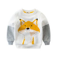 New 2018 Spring Autumn Kids Hoodies Sweatshirts Cotton Cartoon Print 2 Styles Boys Girls Sweatshirt Coat