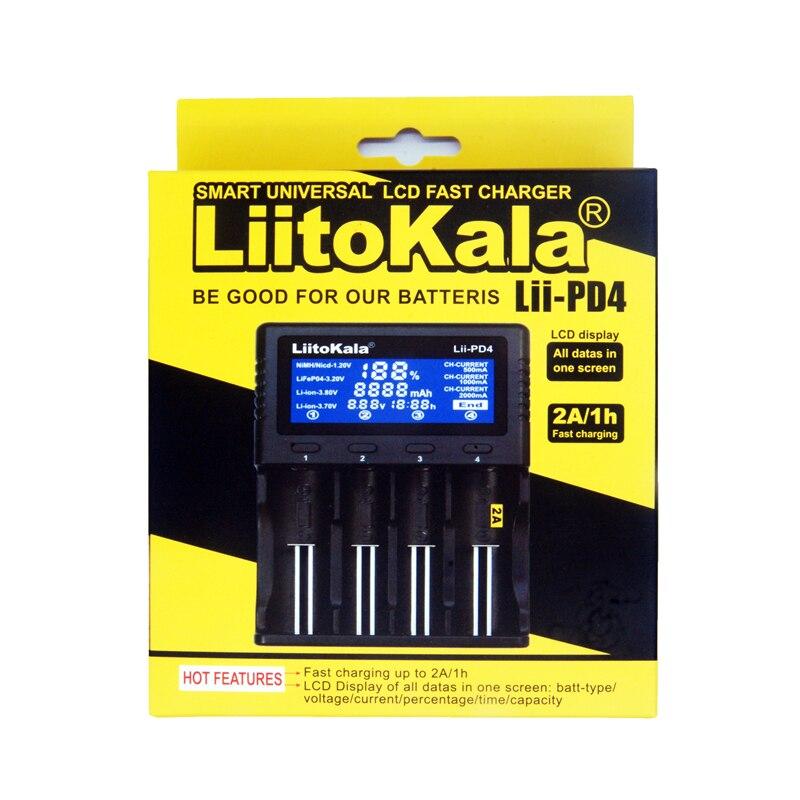Liitokala Lii-PD4 lii-402 lii-PL4 lii-500 3,7 v 18650 18350 21700 20700B 20700 26650 1,2 v AA AAA NiMH lithium-batterie ladegerät