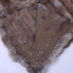 Image 5 - 2020 New Womens Genuine Rabbit Fur Vest Hand Knitted Fur Gilet Lady Natural Fur Waistcoat Sleeveless Real Fur Coat Jacket